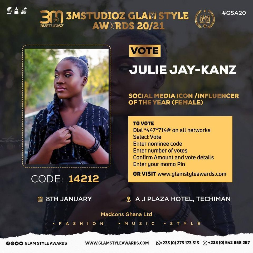 Glam Style Awards 2020: Jullie Jay-Kanz Bags 3 Nominations