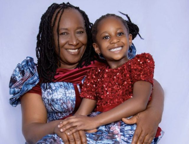 Patience Ozokwo and granddaughter